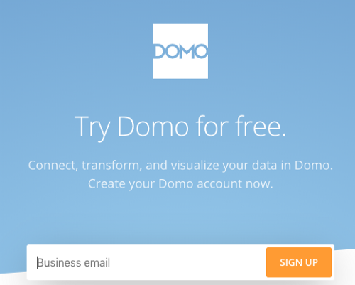 Domo, a tool to remotely connect to external data